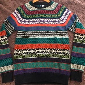 Bright Colorful Thick H&M Sweater